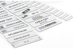 Partex EPL035018LR8C 35x18mm, stříbrná 1000 szt., EPL panelový štítek