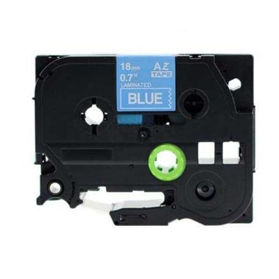 Taśma zamiennik Brother TZ-545 / TZe-545, 18mm x 8m, biały druk / niebieski podkład
