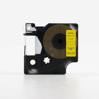 Taśma zamiennik Dymo 53718, S0720980, 24mm x 7m, czarny druk / żółty podkład