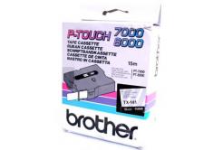 Brother TX-141, 18mm x 8m, czarny druk / przezroczysty podkład, taśma oryginalna