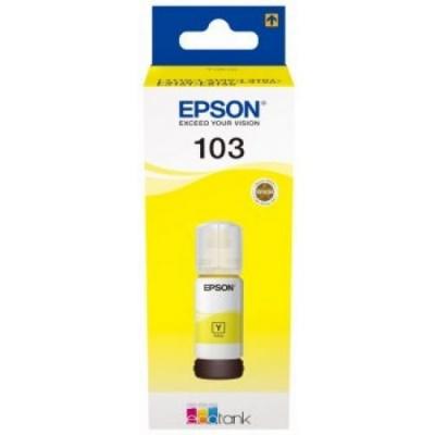 Epson tusz oryginalna C13T00S44A, 103, yellow, 65ml, Epson EcoTank L3151, L3150, L3111, L3110