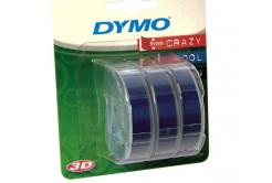 Dymo S0847740, 9mm x 3m biały druk / niebieski podkład, taśma oryginalna