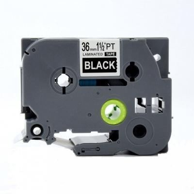 Taśma zamiennik Brother TZ-365 / TZe-365, 36mm x 8m, biały druk / biały podkład
