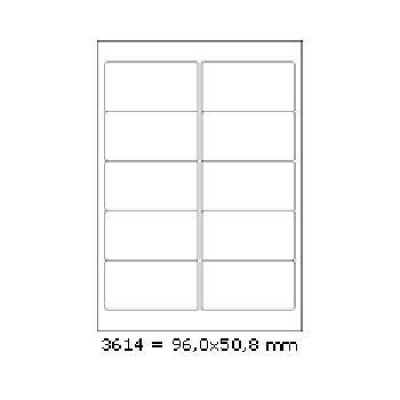 Samoprzylepne etykiety 96 x 50,8 mm, 10 etykiet, A4, 100 arkuszy