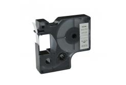 Taśma zamiennik Dymo 40913, S0720680 / 41913, 9mm x 7m czarny druk / biały podkład