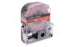 Epson LC-SD6RW, 6mm x 8m, biały druk / czerwony podkład, taśma zamiennik