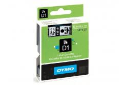 Dymo D1 45018, S0720580, 12mm x 7m, czarny druk / żółty podkład, taśma oryginalna