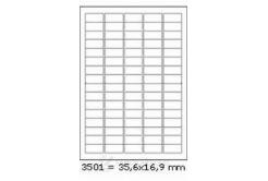 Samoprzylepne etykiety 35,6 x 16,9 mm, 80 etykiet, A4, 100 arkuszy