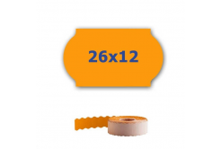 Cenové etykiety do kleští, 26mm x 12mm, 900 szt., signální oranžové