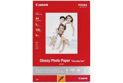 Canon Matte Photo Paper, papier fotograficzny, matowy, biały, A4, 170 g/m2, 5  szt., 7981A042, druk atramentowy