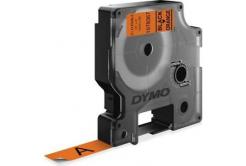 Dymo D1 1978367, 12mm x 3m, czarny druk / pomarańczowy podkład, vinyl, taśma oryginalna