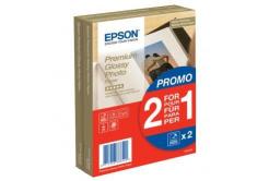 """Epson S042167 Premium Glossy Photo Paper, papier fotograficzny, błyszczący, biały, 1+1, 10x15cm, 4x6"""", 255 g/m2, 2x40 szt."""
