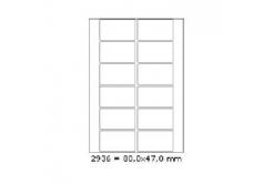 Samoprzylepne etykiety 80 x 47 mm, 12 etykiet, A4, 100 arkuszy