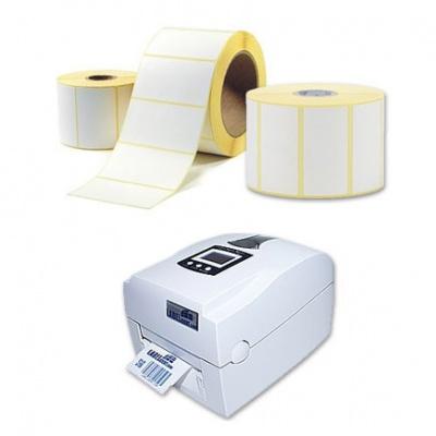 Samoprzylepne etykiety 25x50 mm, 1000 szt., termo, rolka