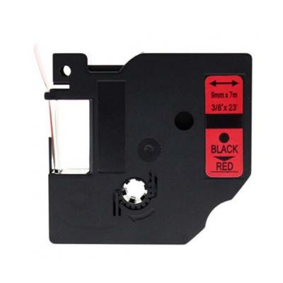 Taśma zamiennik Dymo 40917, S0720720, 9mm x 7m czarny druk / czerwony podkład