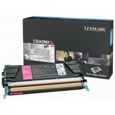 Lexmark C5342MX purpurowy (magenta) toner oryginalny
