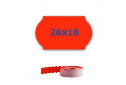 Cenové etykiety do kleští, 26mm x 16mm, 700 szt., signální czerwone