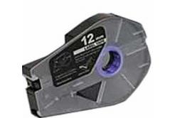 Taśma zamiennik Canon / Partex M-1 Std / M-1 Pro, 12mm x 30m, kazeta, srebrna