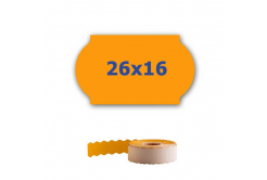 Cenové etykiety do kleští, 26mm x 16mm, 700 szt., signální oranžové