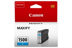 Canon tusz oryginalna PGI-1500 C, cyan, 300 stron, 4.5ml, 9229B001, Canon MAXIFY MB2050,MB2150,MB2155,MB2350,MB2750,MB2755