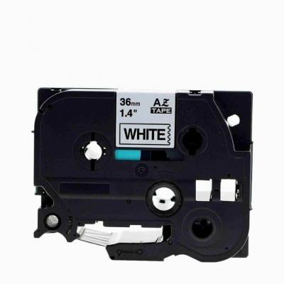 Brother TZe-V261, 36mm x 5,5m, czarny druk / biały podkład, vinyl, taśma zamiennik