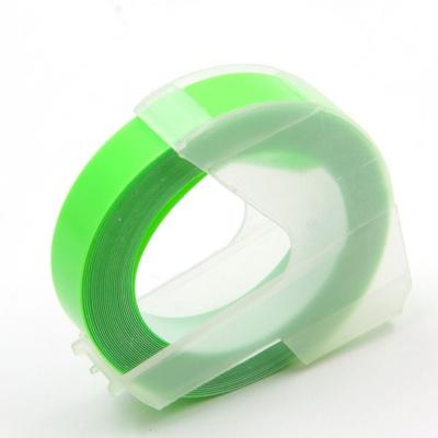 Dymo Omega, 9mm x 3m, biały tisk / fluorescencyjny zielony podkład, taśma zamiennik