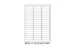 Etykiety samoprzylepne 63,5 x 16,9 mm, 48 szt., A4, 100 arkuszy