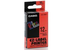 Casio XR-18RD1, 18mm x 8m, czarny druk / czerwony podkład, taśma oryginalna