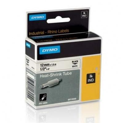 Dymo Rhino 18055, S0718300, 12mm x 1,5m czarny druk / biały podkład, taśma oryginalna