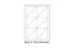 Etykiety samoprzylepne 90 x 90 mm, 12 szt., A4, 100 arkuszy
