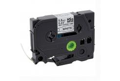 Taśma zamiennik Brother HSe-211 5,8mm x 1,5m, czarny druk / biały podkład