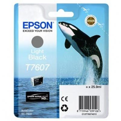 Epson T7607 T76074010 jasno czarny (light black) tusz oryginalna