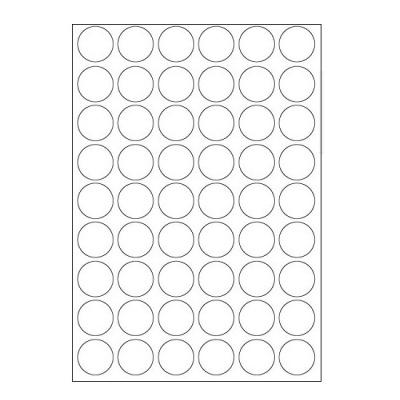 Samoprzylepne etykiety 30 x 30 mm, 54 etykiet, A4, 100 arkuszy