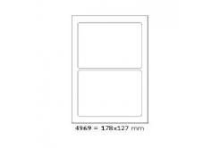 Etykiety samoprzylepne 178 x 127 mm, 2 szt., A4, 100 arkuszy