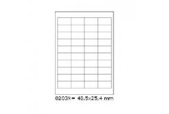 Samoprzylepne etykiety 48,5 x 25,4 mm, 40 etykiet, A4, 100 arkuszy